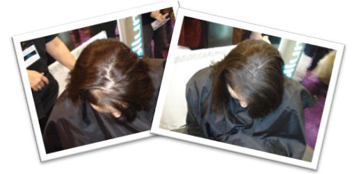 Dark Brown Hair Before & After