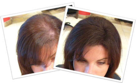 Long Medium Brown Hair Before & After